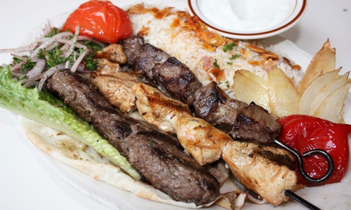 Byblos Cafe & Grill - Multiple Locations: Lebanese Dinner for Two or $20 Worth of Carry-Out at Byblos Cafe and Grill (Up to 35% Off)