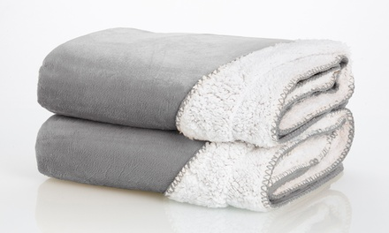 Wexley Home Reversible Sherpa Throws (2-Pack)