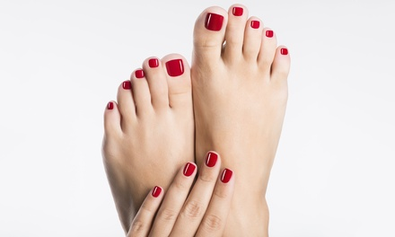 3 manicure o pedicure con smalto