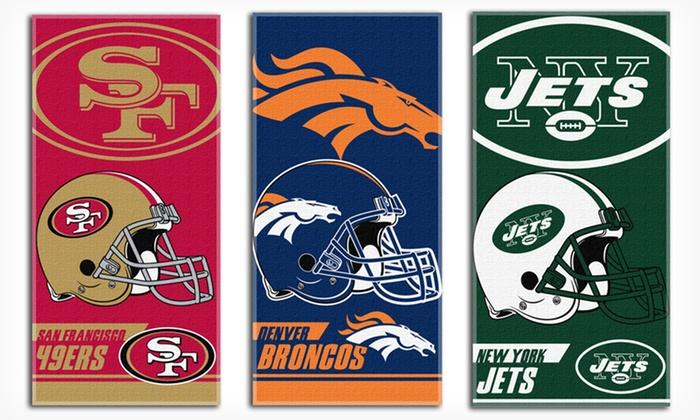 NFL Beach Towels: $9.99 for an NFL Beach Towel ($19.99 List Price). 16 NFL Team Logos Available.