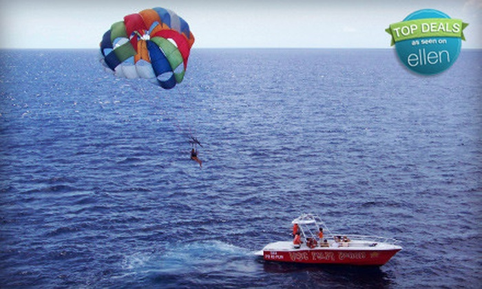 Visit Palm Beach - Palm Beach Shores: Parasailing Experience for Two with Optional Photo Package from Visit Palm Beach in Riviera Beach (Up to 54% Off)