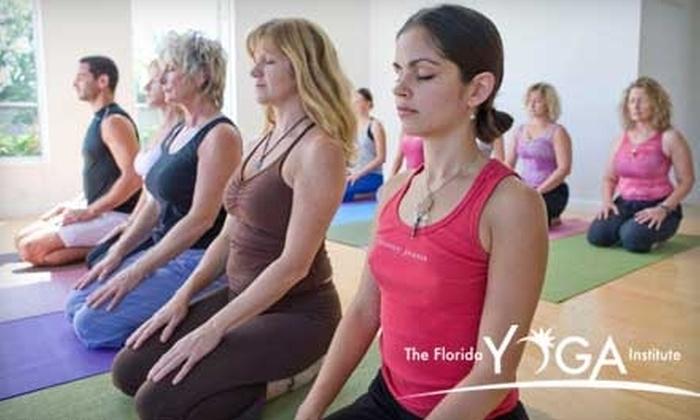 Florida Yoga Institute - Bonita Springs: $50 for One Month of Unlimited Yoga Classes at The Florida Yoga Institute ($150 Value)