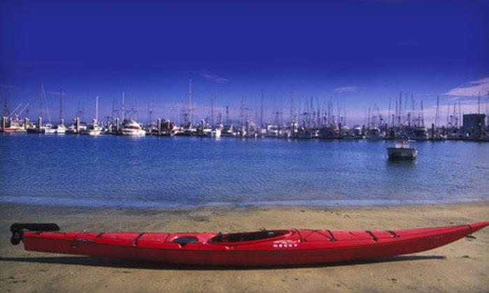 Half Moon Bay Kayak Company - Half Moon Bay: $20 for One-Hour Paddleboard or Single or Double Kayak Rental for Two from Half Moon Bay Kayak Company ($40 Value)