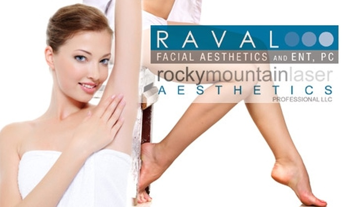 Rocky Mountain Laser Aesthetics - Belcaro: $159 for Three Laser Hair-Reduction Treatments at Rocky Mountain Laser Aesthetics (Up to $555 Value)