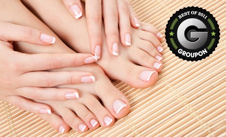 Shellac Manicure, Executive Pedicure and Facial Wax (a $98 value) - Thulan Vu at Off Center Salon & Spa in West Hartford