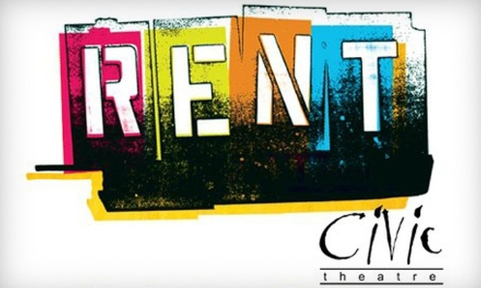 "Fort Wayne Civic Theatre's Production of ""Rent"" - Downtown Fort Wayne: $12 for Sunday Matinee Ticket to ""Rent"" at Fort Wayne Civic Theatre on February 27"