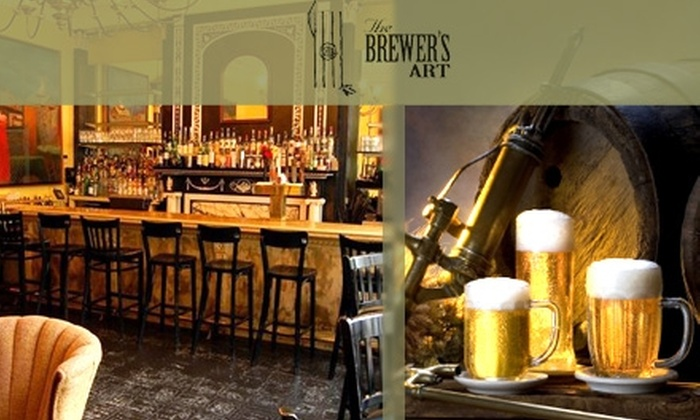 The Brewer's Art - Mid-Town Belvedere: $15 for $30 Worth of Beer, Creative Cuisine, and Drinks at The Brewer's Art