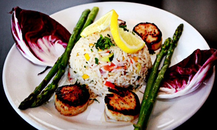 Monaco Middle Eastern Cuisine - South Windsor: Two-Course Dinner with Wine for Two or Four at Monaco Middle Eastern Cuisine (Up to 53% Off)