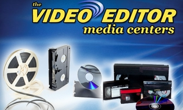 The Video Editor - University: $20 for Two Videotapes Transferred to Two DVDs from The Video Editor ($39.96 Value)