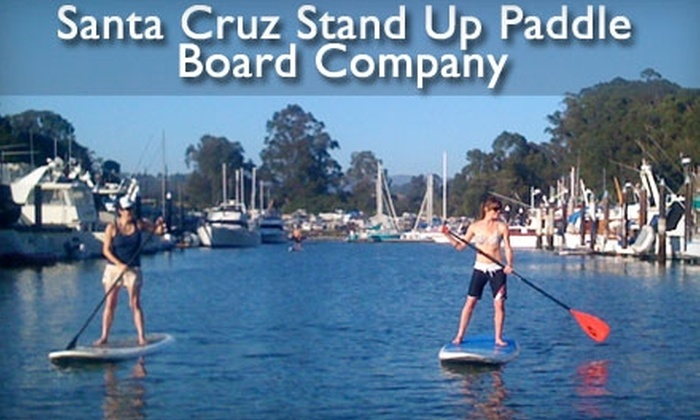 Santa Cruz Stand Up Paddle Board Company - Multiple Locations: Stand-Up Paddleboarding Lesson or Three Hours of Stand-Up Paddleboard Rental at Santa Cruz Stand Up Paddle Board Co. Choose Between Two Options.