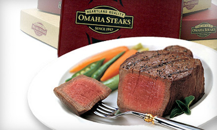 Omaha Steaks Inc. **NAT**: Gourmet Meat Package with Included Shipping from Omaha Steaks (Up to 64% Off). Four Options Available.