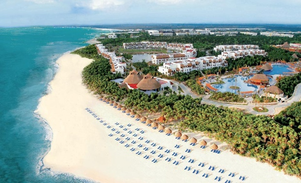 TripAlertz wants you to check out 4-, 5-, or 7-Night All-Inclusive Stay at Valentin Imperial Maya All Inclusive in Mexico. Includes Taxes and Fees. All-Inclusive 4.5-Star Mexican Resort on Beach - All-Inclusive Mexico Resort