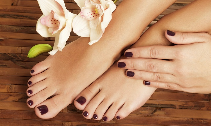 Shining Century Nails - Holbrook: Green Tea Spa Pedicure or Full Gel Set at Shining Century Nails (50% Off)