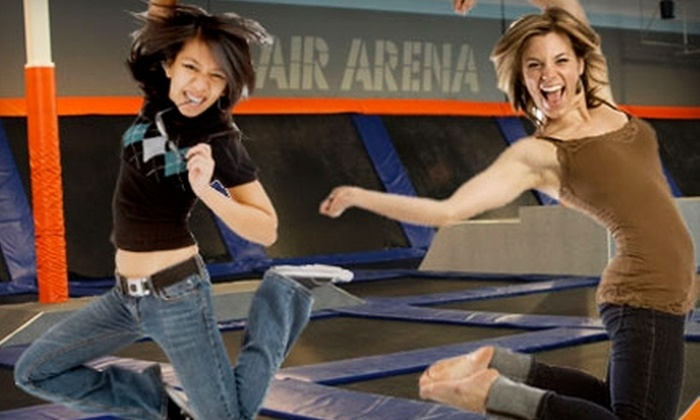 Airborne Trampoline Arena - Draper: $8 for Admission for One Hour of Jumping for Two People at Airborne Trampoline Arena in Draper ($17.50 Value)