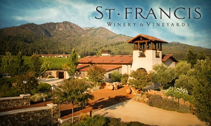 St. Francis Winery & Vineyards - Oakmont Village Association: $30 for Wine Tasting for Two with Cheese and Chocolate Pairing at St. Francis Winery ($60 Value) Plus 15% Off Wine Purchases