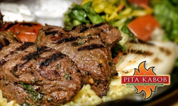 Pita Kabob - Multiple Locations: $5 for $10 Worth of Fresh Mediterranean Fare and Drinks at Pita Kabob