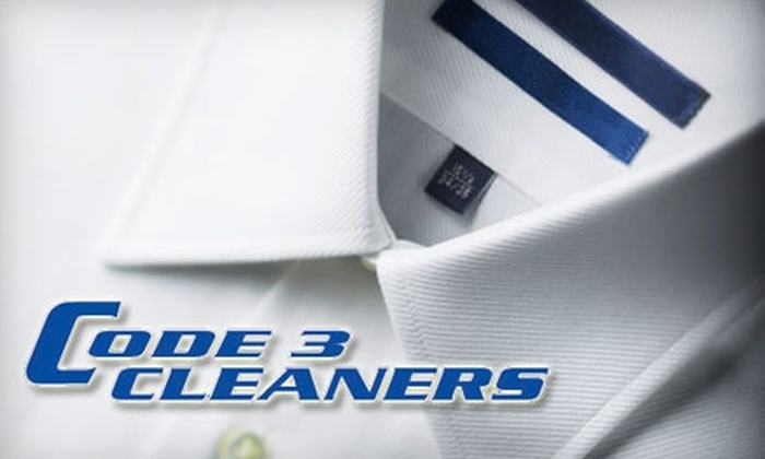 Code 3 Cleaners - Pacific: $10 for $25 Worth of Dry Cleaning and Laundry at Code 3 Cleaners