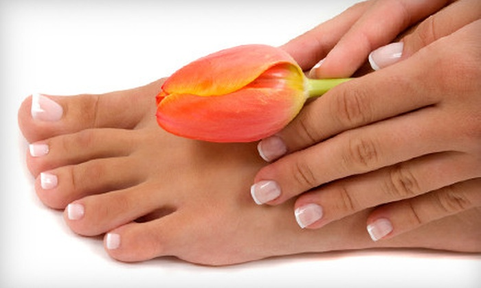 Evolve Salon - Downtown Indianapolis: One or Two Classic Mani-Pedis at Evolve Salon (Up to 57% Off)