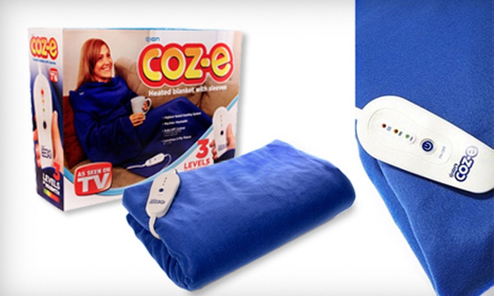 CloseoutAmerica.com: $19 for a Coz-e Electric Heated Fleece Blanket with Sleeves from CloseoutAmerica.com (Up to $59.99 Value)