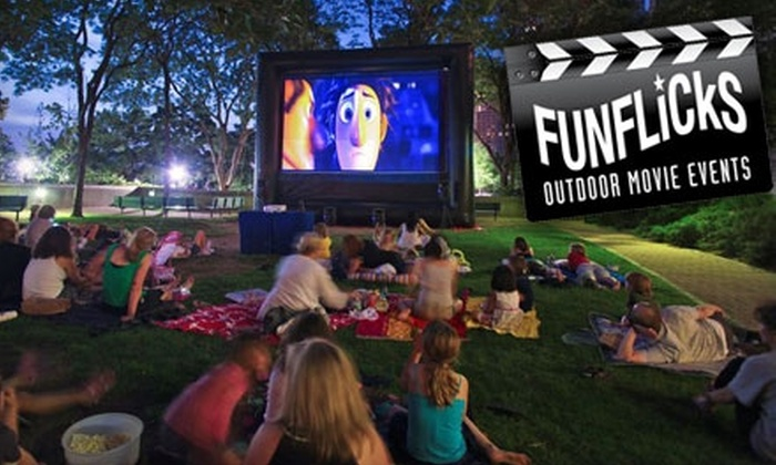FunFlicks Outdoor Movies - Downtown: $99 for an Outdoor Movie Party Rental from FunFlicks Outdoor Movies ($411.25 Value)