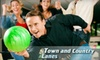 Town and Country Lanes - Bethlehem: $18 for Two Hours of Unlimited Bowling on One Lane and Shoe Rentals for Up to Five People at Town and Country Lanes (Up to $46.20 Value)