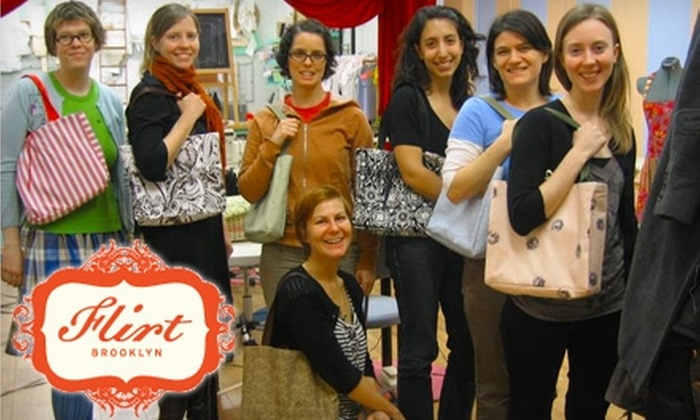 Flirt - Gowanus: $49 for a Build a Bag Intro-to-Sewing Workshop at Flirt's Home Ec Studio in Brooklyn ($95 Value)