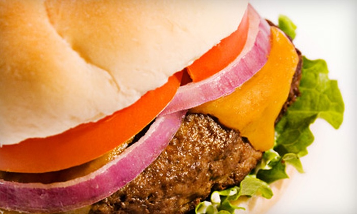 Upper Deck Sports Lounge & Grill - Enterprise: Burger Meal with Fries and Draft Beer for Two or Four at Upper Deck Sports Lounge & Grill (Up to 55% Off)