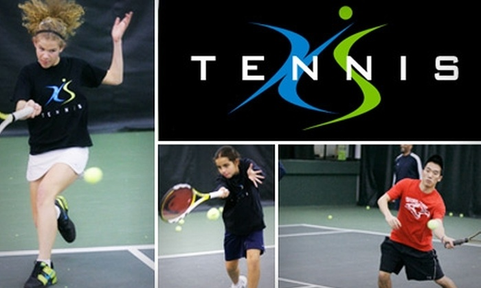 XS Tennis - Multiple Locations: $41 for Four One-Hour Lessons, Plus Club Access, at XS Tennis ($106.25 Value)