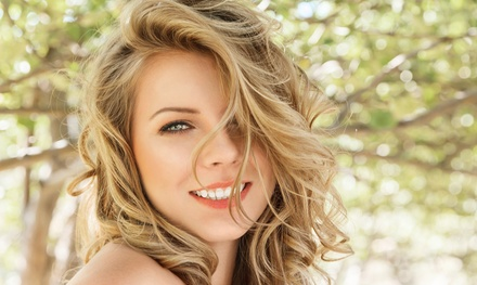 Haircut and Style with Option for Partial or Full Highlights at Stylish Beauty Salon (Up to 53% Off)