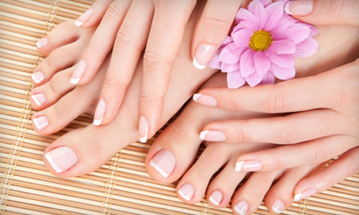 My Secrets Spa - Palm Springs North: One or Three Exotic Fruits Mani-Pedis or Luxury Organic Herbs Mani-Pedis at My Secrets Spa (Up to 58% Off)