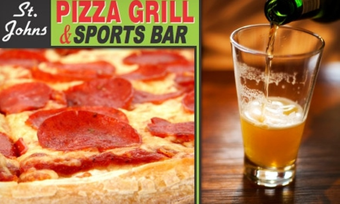 St. Johns Pizza Grill - Fruit Cove: $9 for $20 Worth of Pizza, Sandwiches, and More at St. Johns Pizza Grill