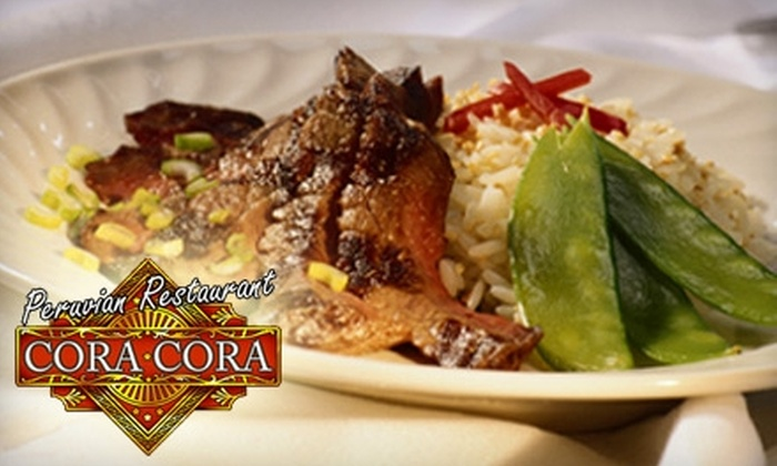 Cora Cora Restaurant - West Hartford: $10 for $20 of Peruvian Cuisine at Cora Cora Restaurant