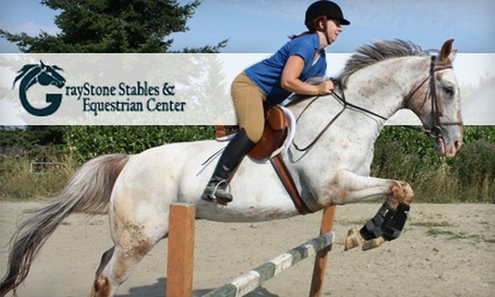 GrayStone Stables & Equestrian Center - Cathcart: $99 for Five Group or Individual Riding Lessons at GrayStone Stables and Equestrian Center in Snohomish (Up to $200 Value)