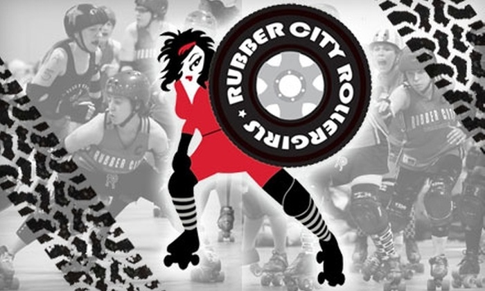 Rubber City Roller Girls - Downtown: $4 Ticket to Rubber City Women's Roller Derby Featuring the Rubber City Rollergirls (Up to $9 Value). Choose from Two Dates.