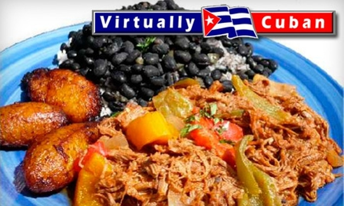 Virtually Cuban - Gainesville: $10 for $20 Worth of Cuban Fare at Virtually Cuban