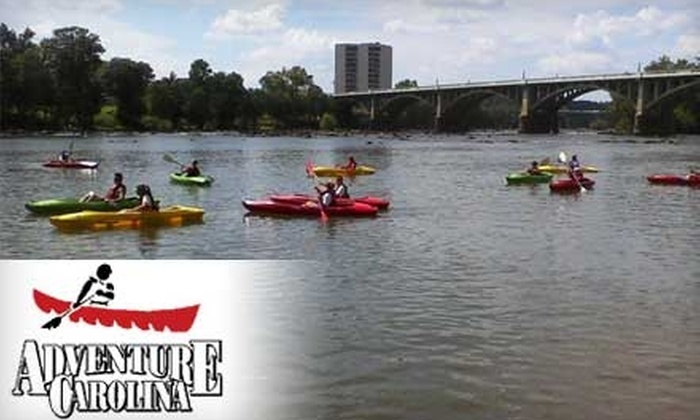 Adventure Carolina - West Columbia: Guided Kayak Trip Down the Congaree River from Adventure Carolina (Up to $60 Value). $15 for One-Person Trip or $25 for Two-Person Trip.
