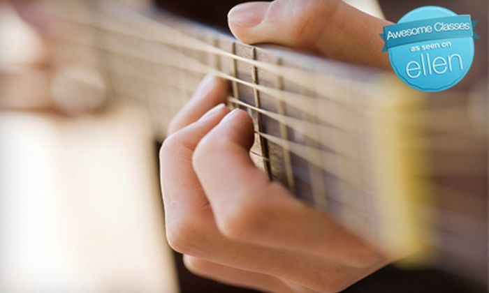 The Rhythm Factory - North End: Four Guitar Lessons or Credit Toward Lesson Package at The Rhythm Factory