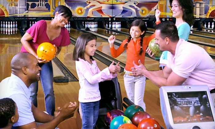 AMF Bowling - AMF Peach Lanes: Two Hours of Bowling and Shoe Rental for Two or Four at AMF Bowling Centers (Up to 64% Off) in Columbus.