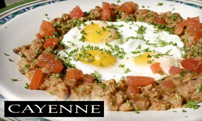 Cayenne Mediterranean Cafe - Mid-Wilshire: $20 for $40 Worth of Mediterranean Cuisine and Drinks at Cayenne Cafe