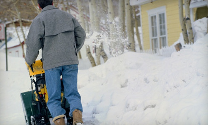 TurfWorks - Norman: $65 for Snow Shoveling and Ice-Melt Treatment from TurfWorks ($130 Value)