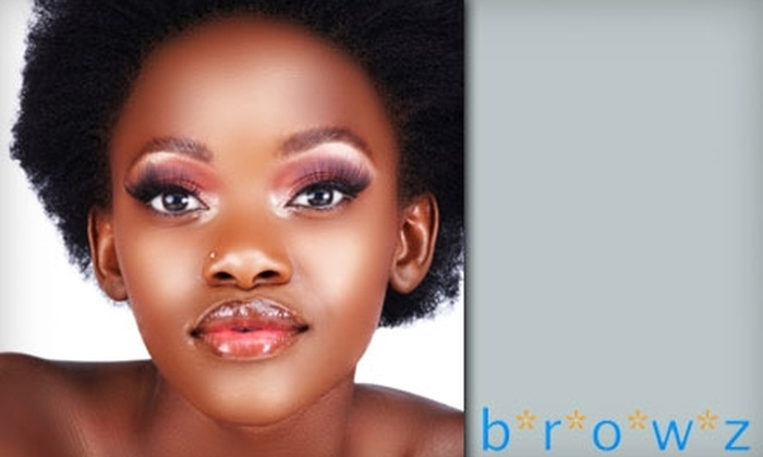 Browz Makeup Bar - Atlanta-Decatur: $25 for $50 Worth of Waxing Services or an Espresso Makeover ($50 Value) at Browz Makeup Bar