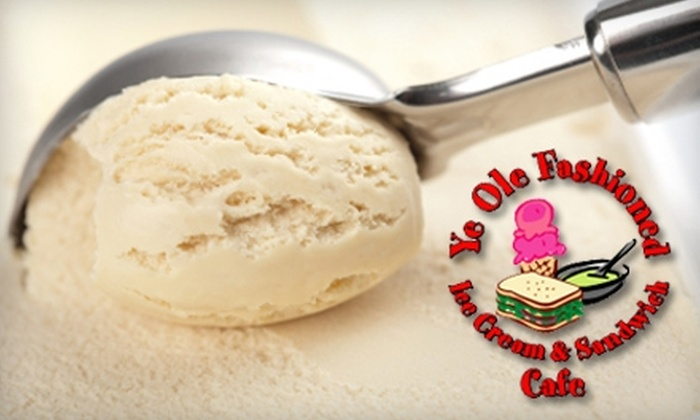 Ye Ole Fashioned - Multiple Locations: $5 for $10 Worth of Ice Cream and Sandwiches at Ye Ole Fashioned. Choose from Eight Locations.