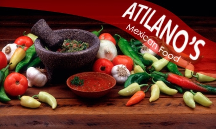 Atilano's Mexican Food - Riverside: $9 for Two Combo Plates and Two Drinks at Atilano's Mexican Food (Up to $18 Value)