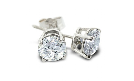 1/2-Carat TW Diamond Stud Earrings in 14-Karat White Gold
