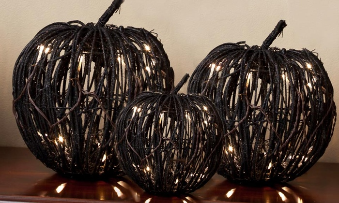 Rattan Pumpkin with LED Lights: Rattan Pumpkin with LED Lights (Up to 42% Off). Multiple Sizes Available. Free Shipping and Returns.