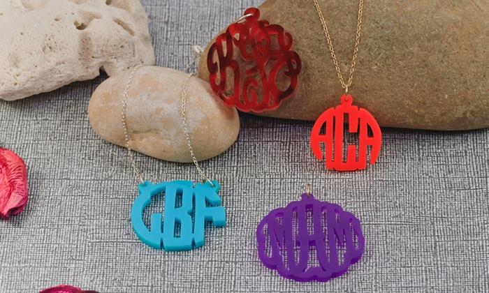 Monogramhub.com: $24.99 for an Acrylic Monogram Pendant from Monogramhub.com ($95 Value)