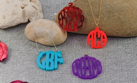 $$24.99 for an Acrylic Monogram Pendant from Monogramhub.com ($95 Value)