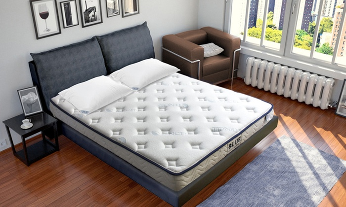 matelas m moire de forme blue nano gel sampur groupon shopping. Black Bedroom Furniture Sets. Home Design Ideas