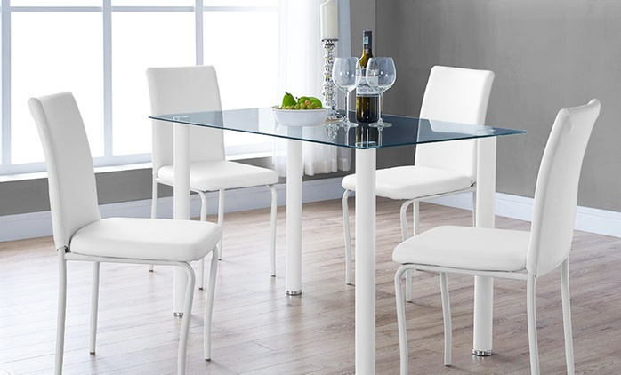 Bergen Dining Table with Four Chairs for €139.99 With Free Delivery (70% Off)