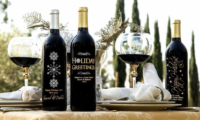 Miramonte Winery: One or Two Custom Hand-Etched Bottles of Wine from Miramonte Winery (Up to 52% Off)